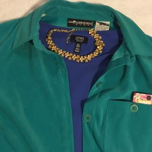 Totally Turquoise Sag Harbor 18W relaxed jacket🏖